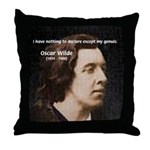 Genius at Play Oscar Wilde Throw Pillow