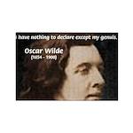 Genius at Play Oscar Wilde Rectangle Magnet (100 p