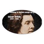 Genius at Play Oscar Wilde Oval Sticker