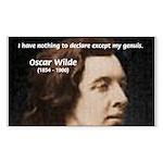 Genius at Play Oscar Wilde Rectangle Sticker