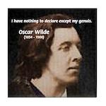 Genius at Play Oscar Wilde Tile Coaster