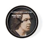 Genius at Play Oscar Wilde Wall Clock