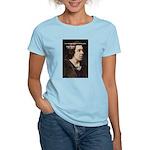 Genius at Play Oscar Wilde Women's Pink T-Shirt