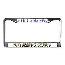 2nd Bn 58th Inf Reg License Plate Frame