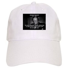 Political Comedy Churchill Baseball Cap