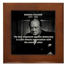 Political Comedy Churchill Framed Tile
