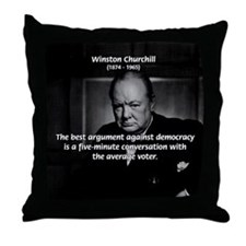 Political Comedy Churchill Throw Pillow
