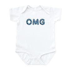 OMG blue Infant Bodysuit