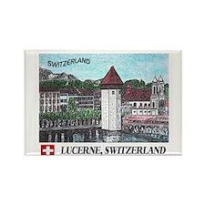 Lucerne Switzerland Rectangle Magnet (10 pack)