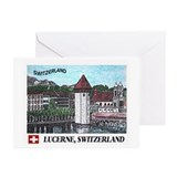 Lucerne Switzerland Greeting Cards (Pk of 20)