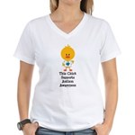 Autism Awareness Chick Women's V-Neck T-Shirt