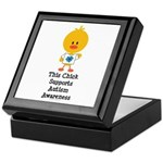 Autism Awareness Chick Keepsake Box