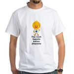 Autism Awareness Chick White T-Shirt