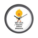 Autism Awareness Chick Wall Clock