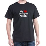 My Heart: Aliyah Black T-Shirt