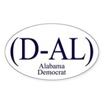 (D-AL) Alabama Democrat Oval Sticker