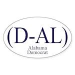 (D-AL) Alabama Democrat Oval Sticker