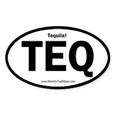 Tequila Oval Decal