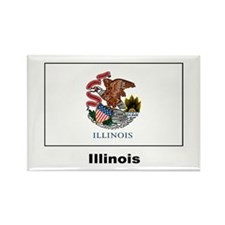Illinois State Flag Rectangle Magnet