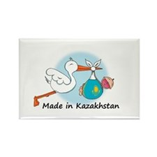 Stork Baby Kazakhstan Rectangle Magnet