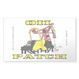 Oil Patch Pump Jack Sticker(Rectangle)Oil