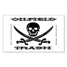 Oil Field Trash,Skull,Bones Decal