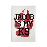Jacob is My K9 Rectangle Magnet