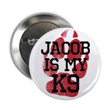 "Jacob is My K9 2.25"" Button (100 pack)"