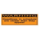 Warning: Deadlines in schedul Car Sticker