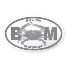 Maryland Blue Crab Euro Oval Decal