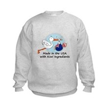 Stork Baby New Zealand USA Sweatshirt