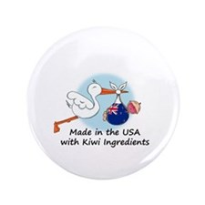 "Stork Baby New Zealand USA 3.5"" Button"
