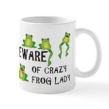 Beware of Crazy Frog Lady Mug