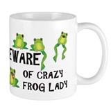 Beware of Crazy Frog Lady Small Mugs