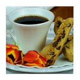 Coffee & Biscotti Tile Coaster