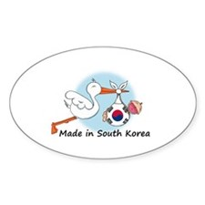 Stork Baby South Korea Decal