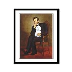 Lincoln / Maltgese (B) Framed Panel Print