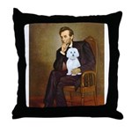 Lincoln / Maltgese (B) Throw Pillow