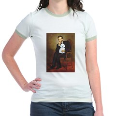 Lincoln / Maltgese (B) Jr. Ringer T-Shirt