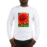 Orange Dalia Long Sleeve T-Shirt