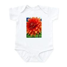 Orange Dalia Infant Bodysuit