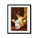Reading / Maltese Framed Panel Print