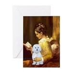 Reading / Maltese Greeting Card