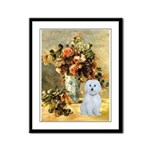 Vase / Maltese (B) Framed Panel Print