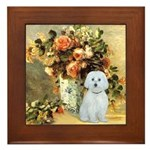 Vase / Maltese (B) Framed Tile