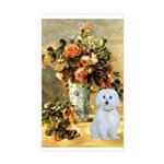 Vase / Maltese (B) Sticker (Rectangle)