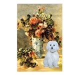 Vase / Maltese (B) Postcards (Package of 8)