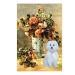 Vase / Maltese (B) Postcards (Package of 8)