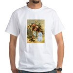 Vase / Maltese (B) White T-Shirt