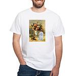 Vase / Maltese (B) White T-Shirt